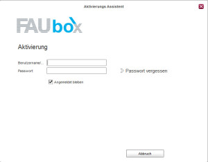 FAUbox-Anmeldung