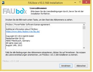 Faubox_Installieren auf Windows 1