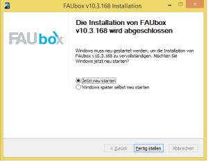 Faubox_Installieren auf Windows 4