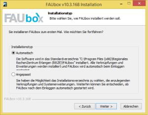Faubox_Installiern auf Windows 2