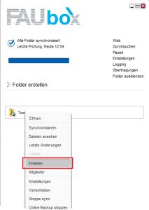 FAUbox_Erstellen und Teilen von Ordnern 5